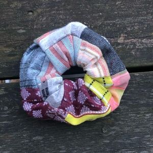 ace&jig jumbo scrap scrunchie in Chartreuse